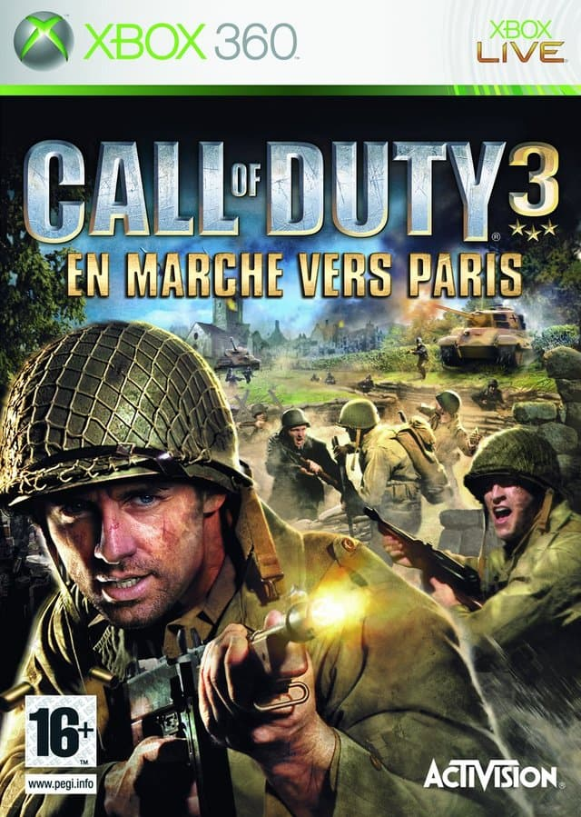 Jaquette Call of Duty 3 : En Marche vers Paris