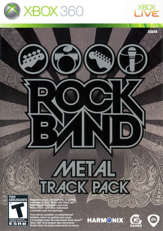 Jaquette Rock Band : Metal Track Pack