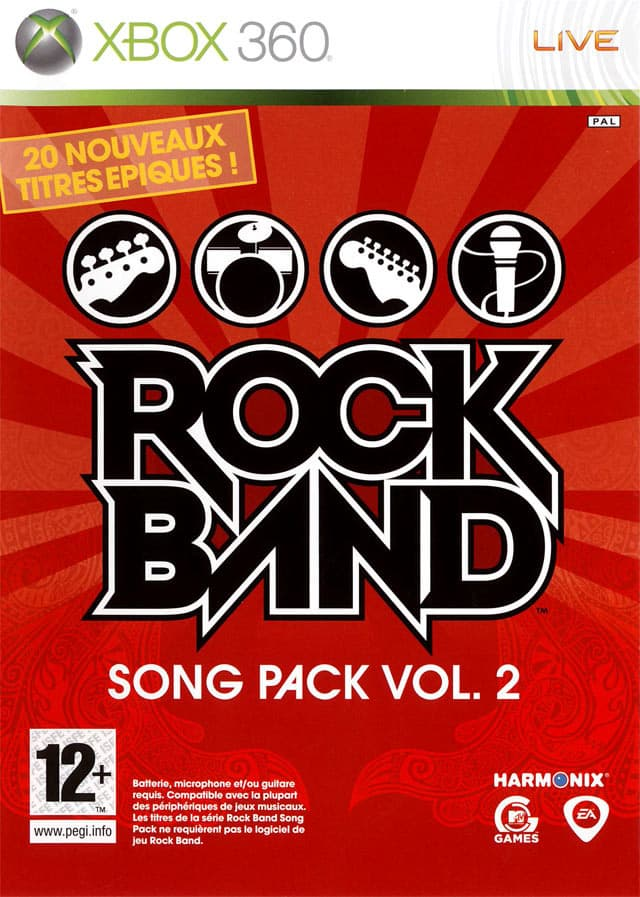 Jaquette Rock Band Song Pack 2