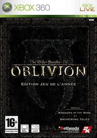 Jaquette The Elder Scrolls IV : Oblivion Edition Jeu De L'Annee