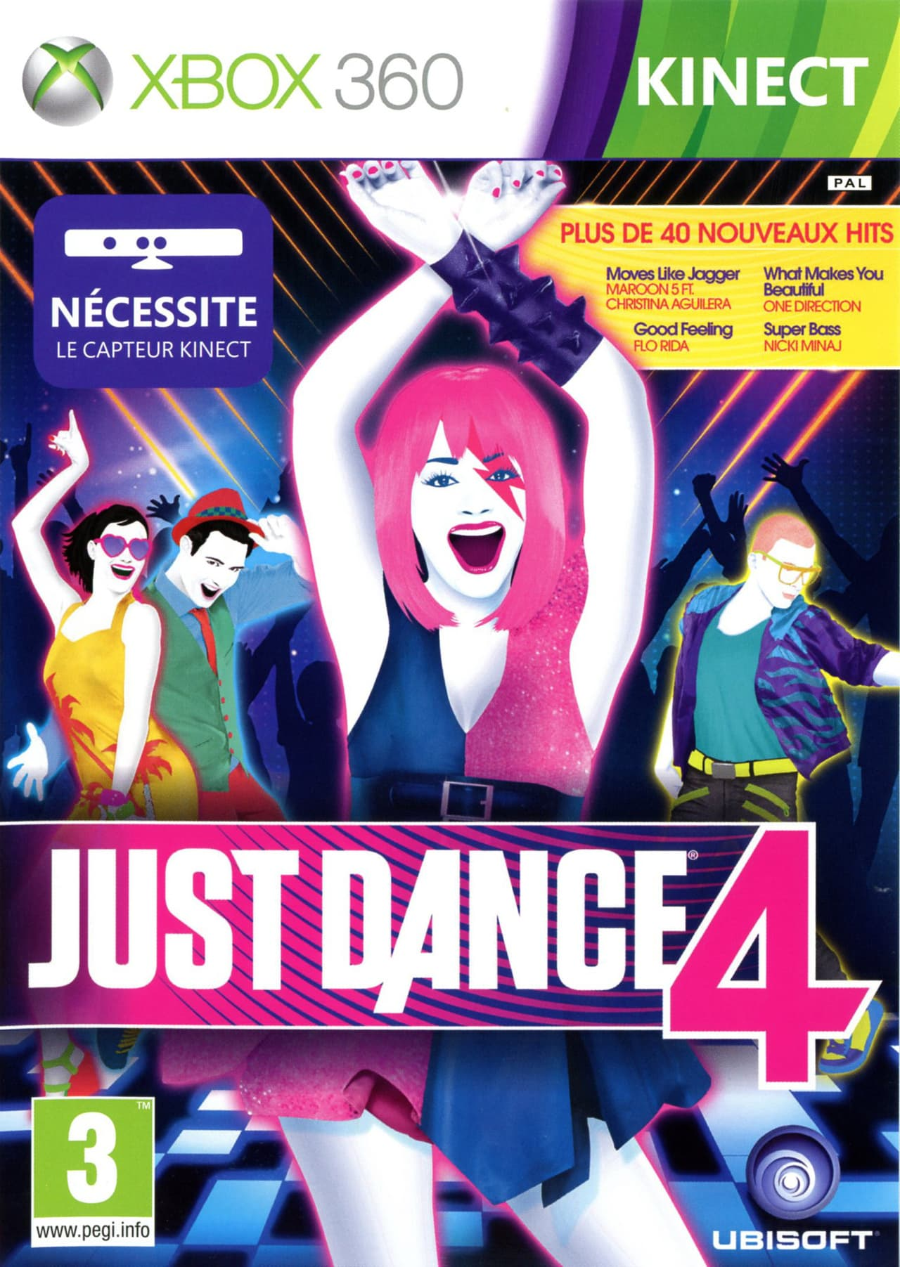 Jaquette Just Dance 4