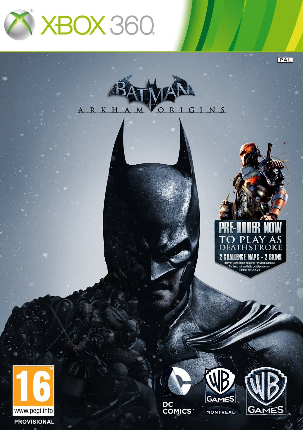 Jaquette Batman Arkham Origins