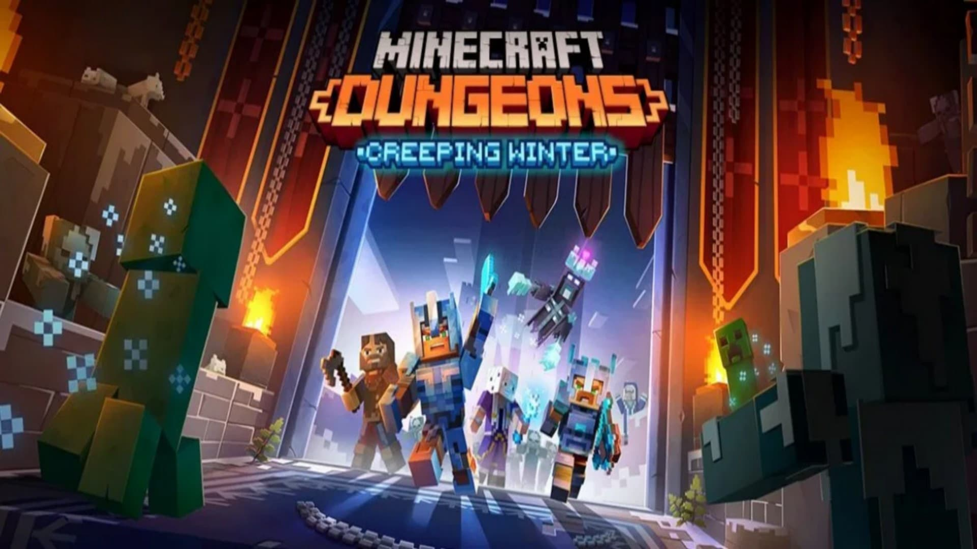 Jaquette Minecraft Dungeons : Creeping Winter