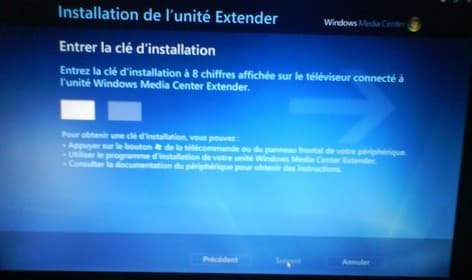 Taper son code MCE Browser sur Windows media center xbox 360