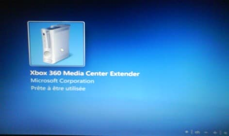 Ma Xbox : Windows Media Center