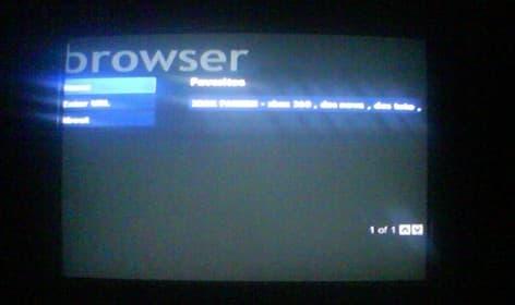 Internet sur Xbox 360