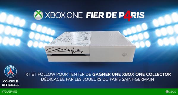 Gagnez une Xbox one blanche dédicassée par les joueurs du PSG!