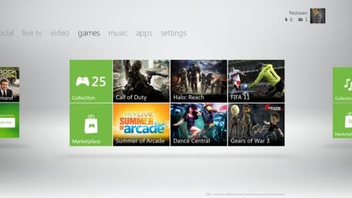 Un nouvel interface pour la Xbox 360