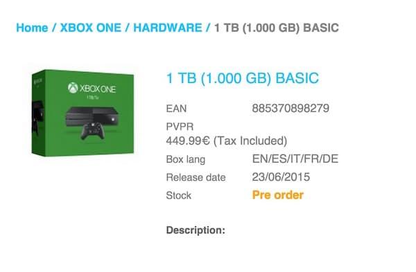 Bientôt une Xbox One avec disque de 1 TO???