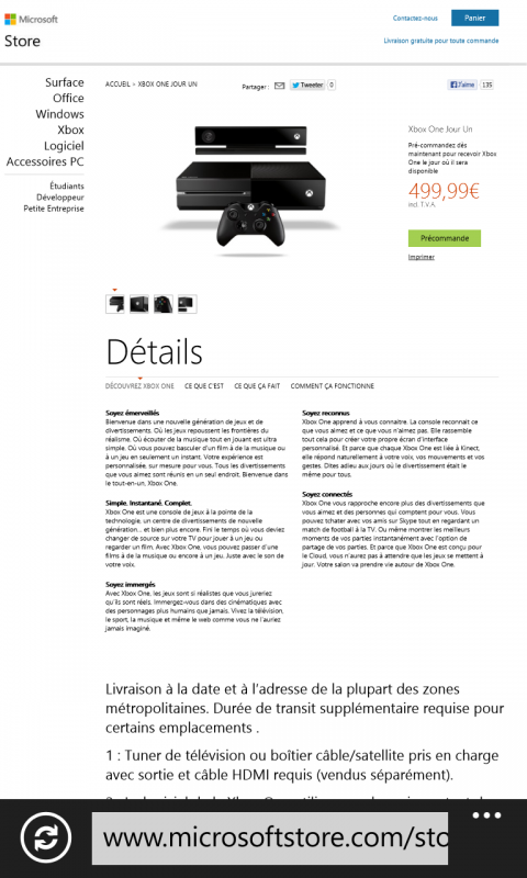 Xbox one: Reservation disponible