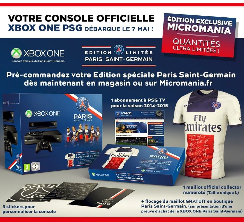 Xbox one: la console aux couleurs du PSG officialisée!