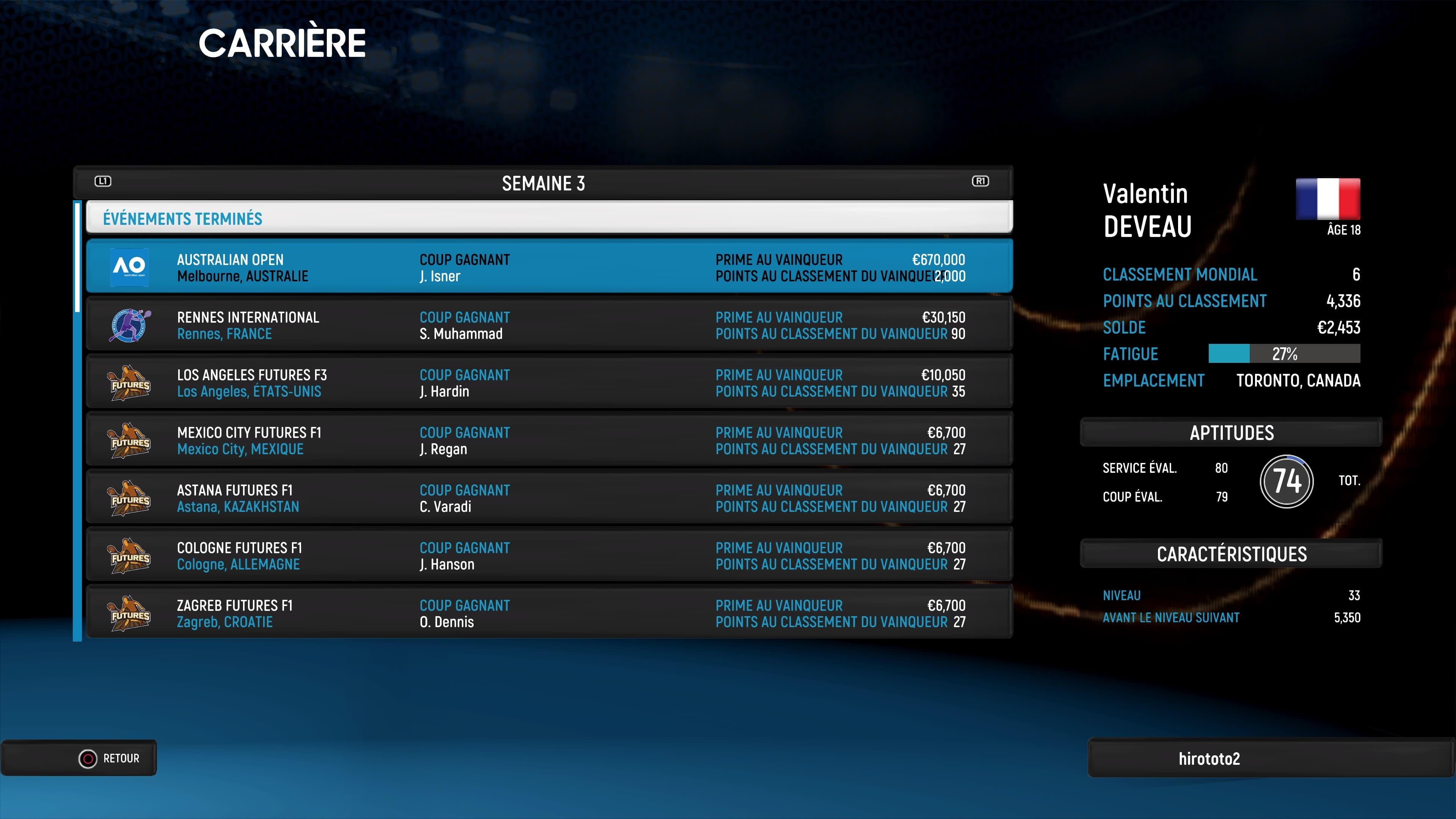 Xbox One AO International Tennis