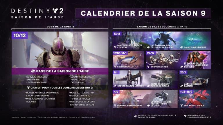 Destiny 2: Bastion Des Ombres, le planning de la Saison de l'Aube dévoilé,