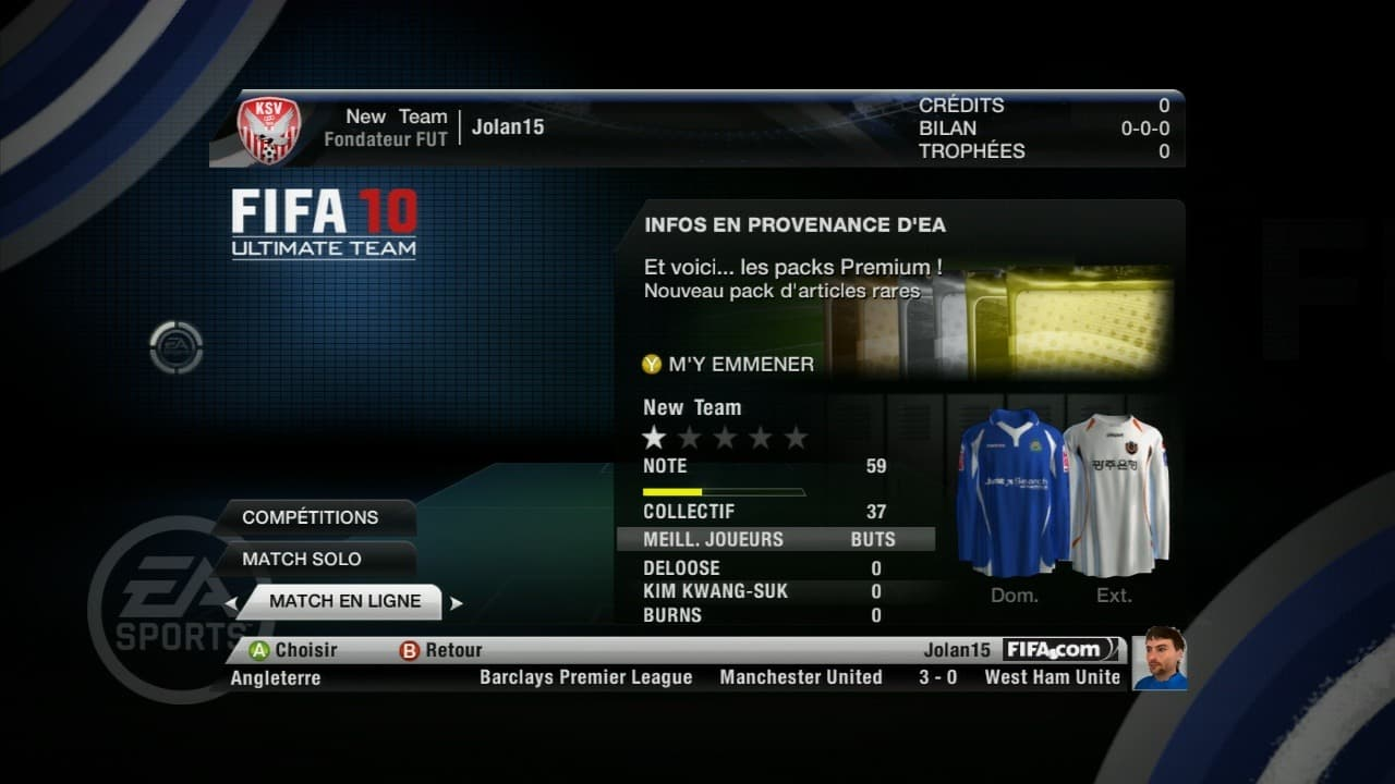 FIFA 10: Ultimate Team - Image n°8