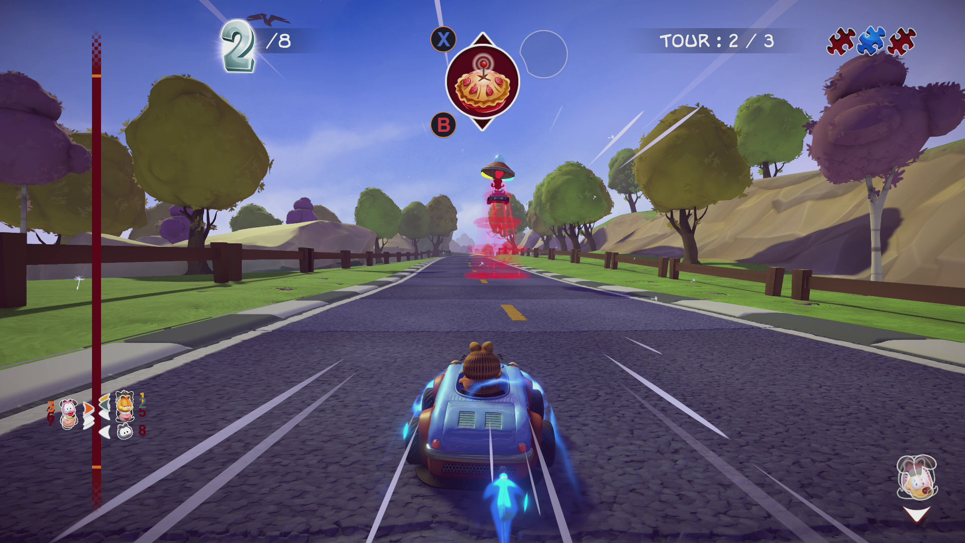 Xbox One Garfield Kart Furious Racing !