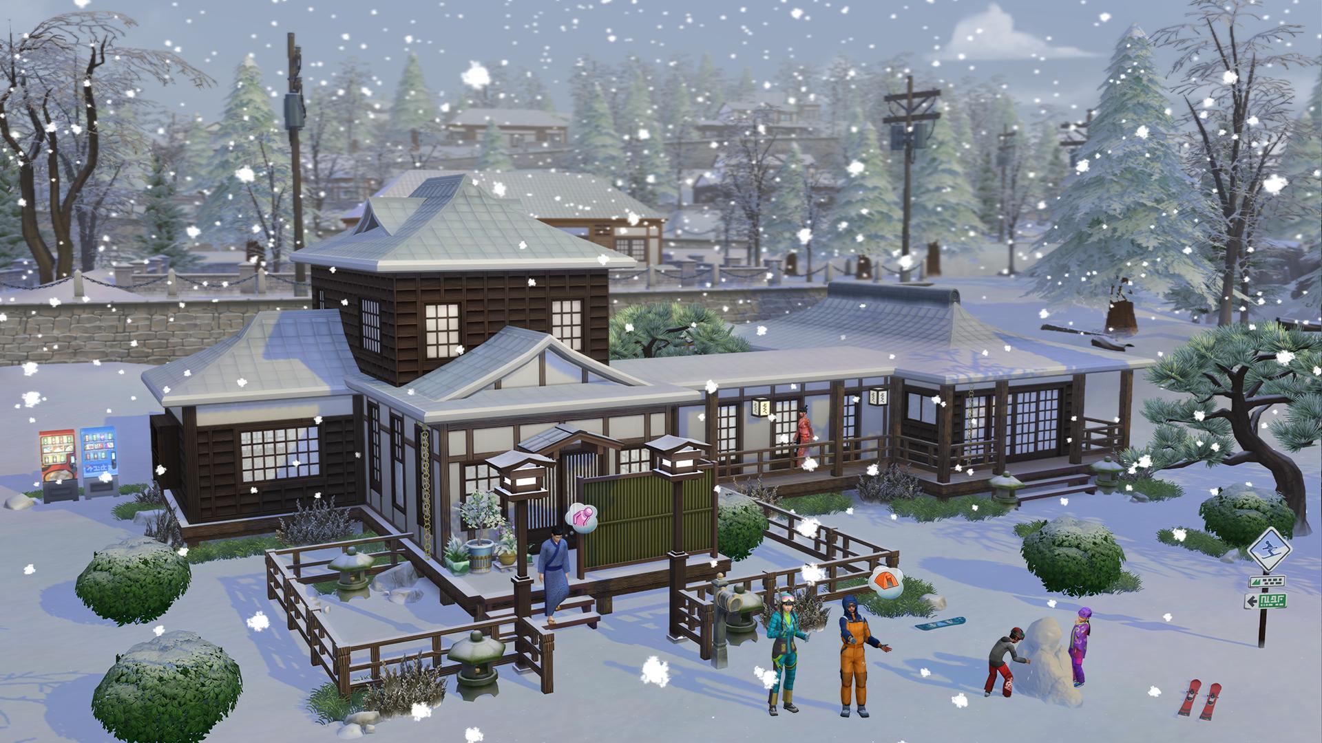 Les Sims 4: Escapade Enneigée