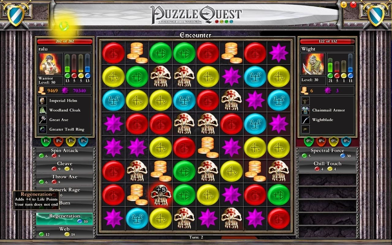 Puzzle Quest: Challenge of the Warlords - Image n°7