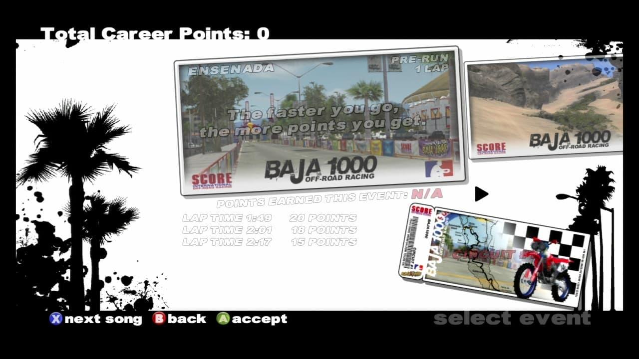 SCORE International Baja 1000 World Championship Off Road Racing Xbox 360