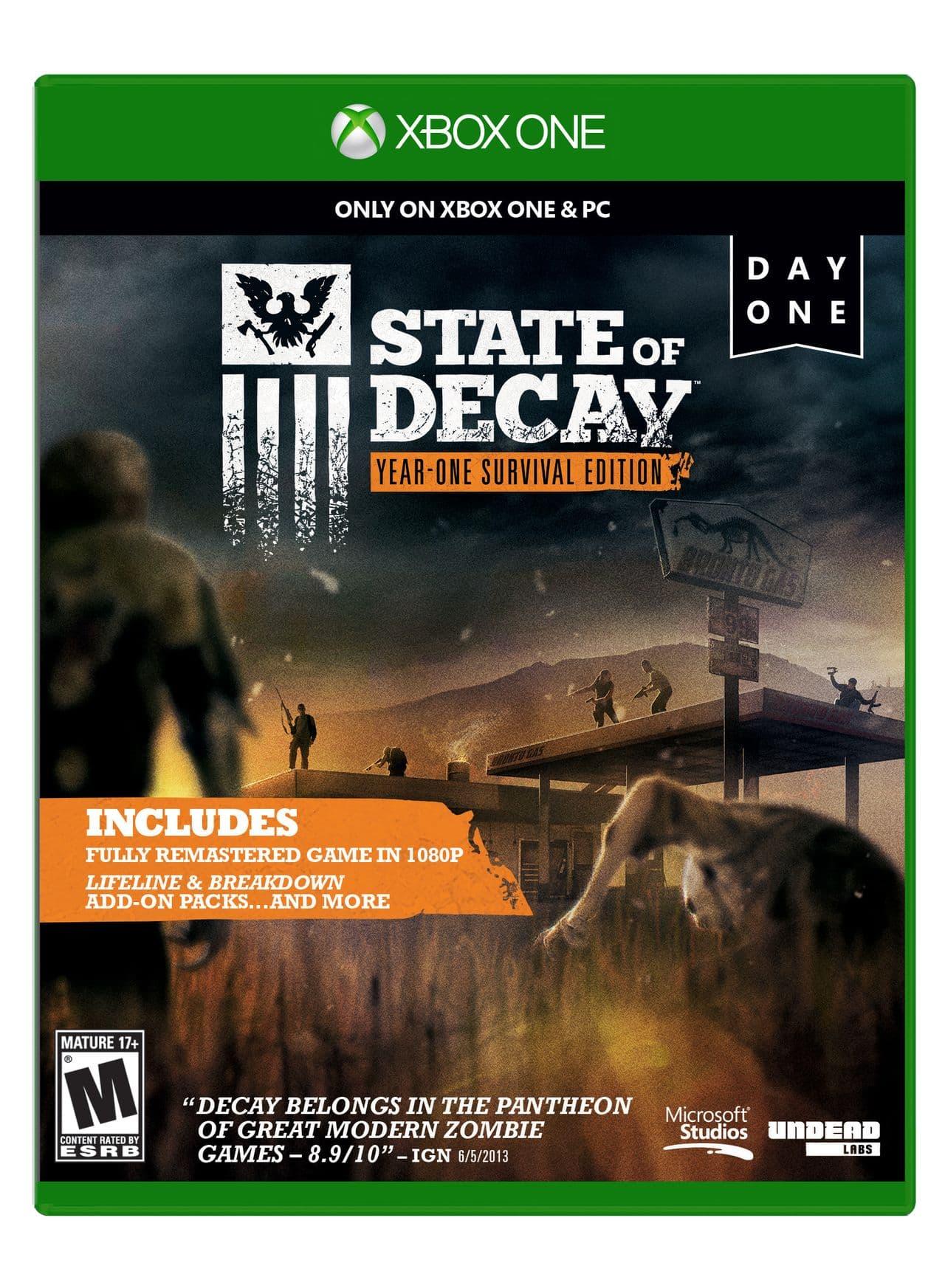 State of Decay: Year One Survival Edition: Quelques images , une jaquette et des informations
