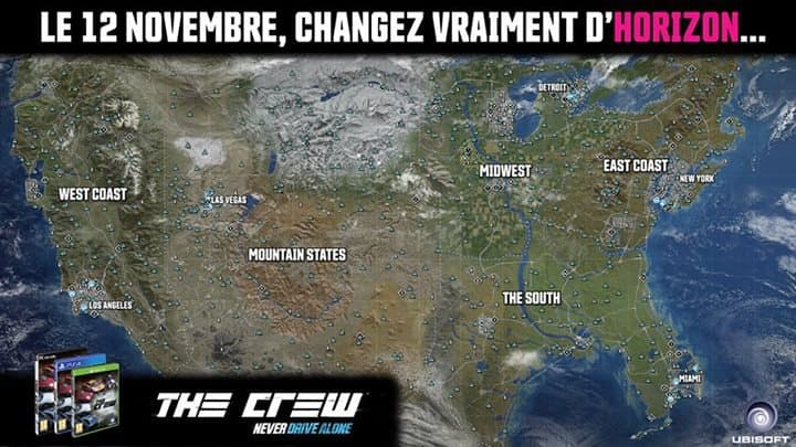 The Crew, quand ubisoft troll Forza Horizon 2